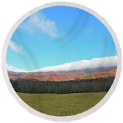 Great Smoky Mountains National Park Round Beach Towel