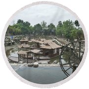 4359- Water Wheel Round Beach Towel