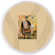 43770 Boris Kustodiev Round Beach Towel