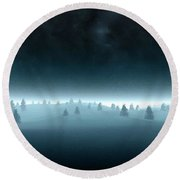 Nature By Round Beach Towel