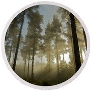 Oil Paintings Landscapes Round Beach Towel