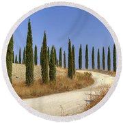 Tuscany Round Beach Towel by Joana Kruse