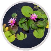 4425- Lily Pads Round Beach Towel