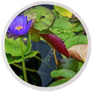 4466- Lily Pads Round Beach Towel