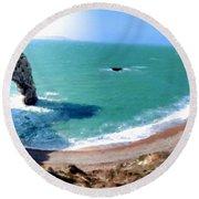 9 Landscape Round Beach Towel