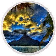 Landscape Light Round Beach Towel