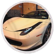 458 Italia Round Beach Towel