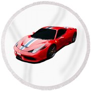 458 Speciale Round Beach Towel