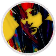 Bob Dylan Collection Round Beach Towel