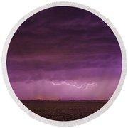 First Nebraska Storm Chase 2015 Round Beach Towel
