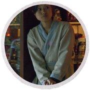 4625- Shop Girl Round Beach Towel