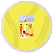 Al The Veldt Alfred Parker Round Beach Towel