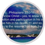 Bible Verse  Round Beach Towel