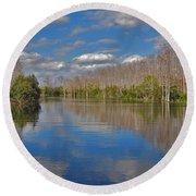 47- Everglades Serenity Round Beach Towel