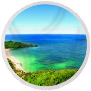 Landscape Lighting Round Beach Towel