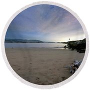 Landscapes To Paint Round Beach Towel