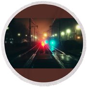 47015 Miscellaneous Rail Track Rail Track And Lights Round Beach Towel