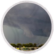 7th Storm Chase 2015 Round Beach Towel