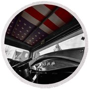48 Stars Round Beach Towel
