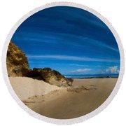 Landscape Definition Round Beach Towel