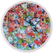 3rd Day Of Creation 201808 Round Beach Towel