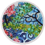 4th Day Of Creation 201812 Round Beach Towel