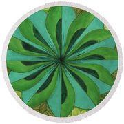 4th Mandala - Heart Chakra Round Beach Towel