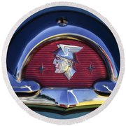1953 Mercury Monterey Emblem Round Beach Towel