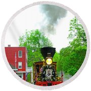 A President's Funeral Train - 3435 Round Beach Towel