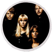 Abba Collection Round Beach Towel