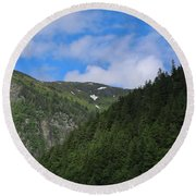 Alaska_00005 Round Beach Towel