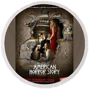 American Horror Story 2011 Round Beach Towel