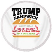 Anti Trump Impeach The President Vote For Dems Light Round Beach Towel