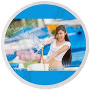 Asian Round Beach Towel