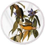 Audubon: Warbler, (1827-38) Round Beach Towel