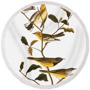 Audubon: Warbler Round Beach Towel