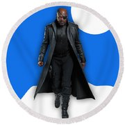 Avengers Nick Fury Collection Round Beach Towel