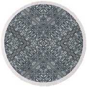 Aztec Navajo Pattern Background Round Beach Towel