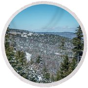 Beautiful Nature And Scenery Around Snowshoe Ski Resort In Cass  Round Beach Towel