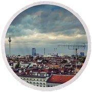 Berlin Skyline Round Beach Towel
