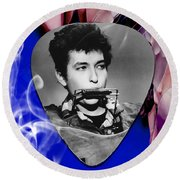 Bob Dylan Art Round Beach Towel