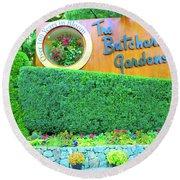 Butchart Gardens Round Beach Towel