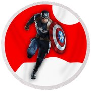 Captain America Collection Round Beach Towel