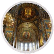 Church Of The Savior On Spilled Blood  Round Beach Towel
