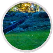 Classic Historic Banquet And Event Home And Backyard Round Beach Towel