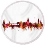 Cologne Germany Skyline Round Beach Towel
