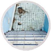 Derelict Swimming Pool Round Beach Towel