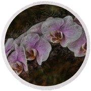 5 Dollar Orchid Round Beach Towel