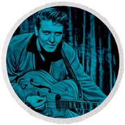 Eddie Cochran Collection Round Beach Towel