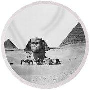 Egypt: Great Sphinx Round Beach Towel